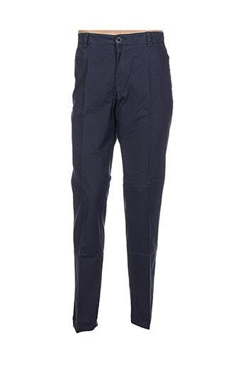 hafnium pantalons homme de couleur bleu