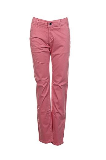 izac pantalons homme de couleur rose