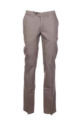 Pantalon casual gris GRIFFE NOIRE pour homme