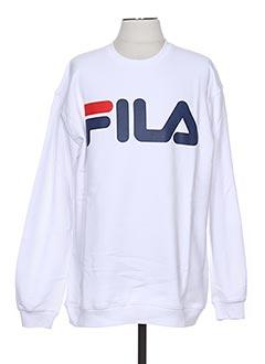 Sweat-shirt blanc FILA pour homme