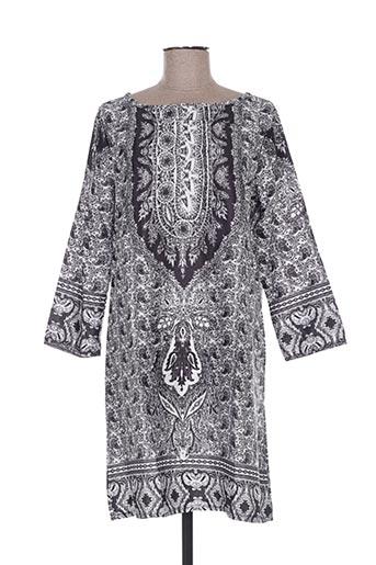 Robe courte noir EALEY FUSHI pour femme