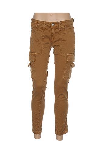 Pantalon 7/8 jaune AVIDA DOLLARS pour femme