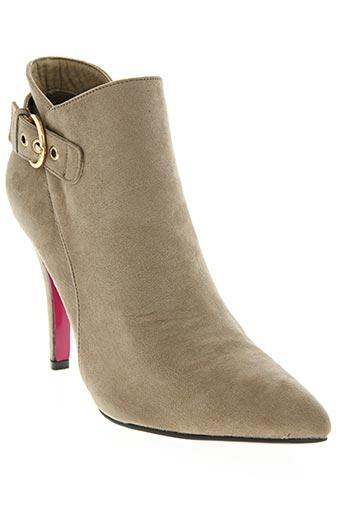 jm.diamant chaussures femme de couleur beige