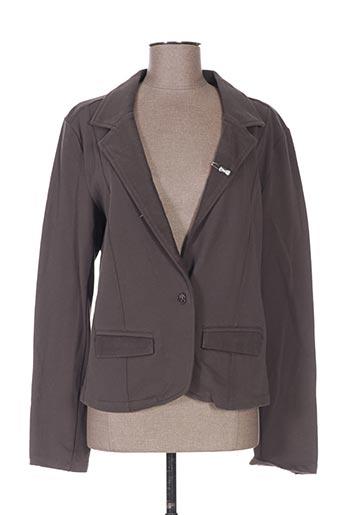 Veste casual gris LOLA ESPELETA pour femme