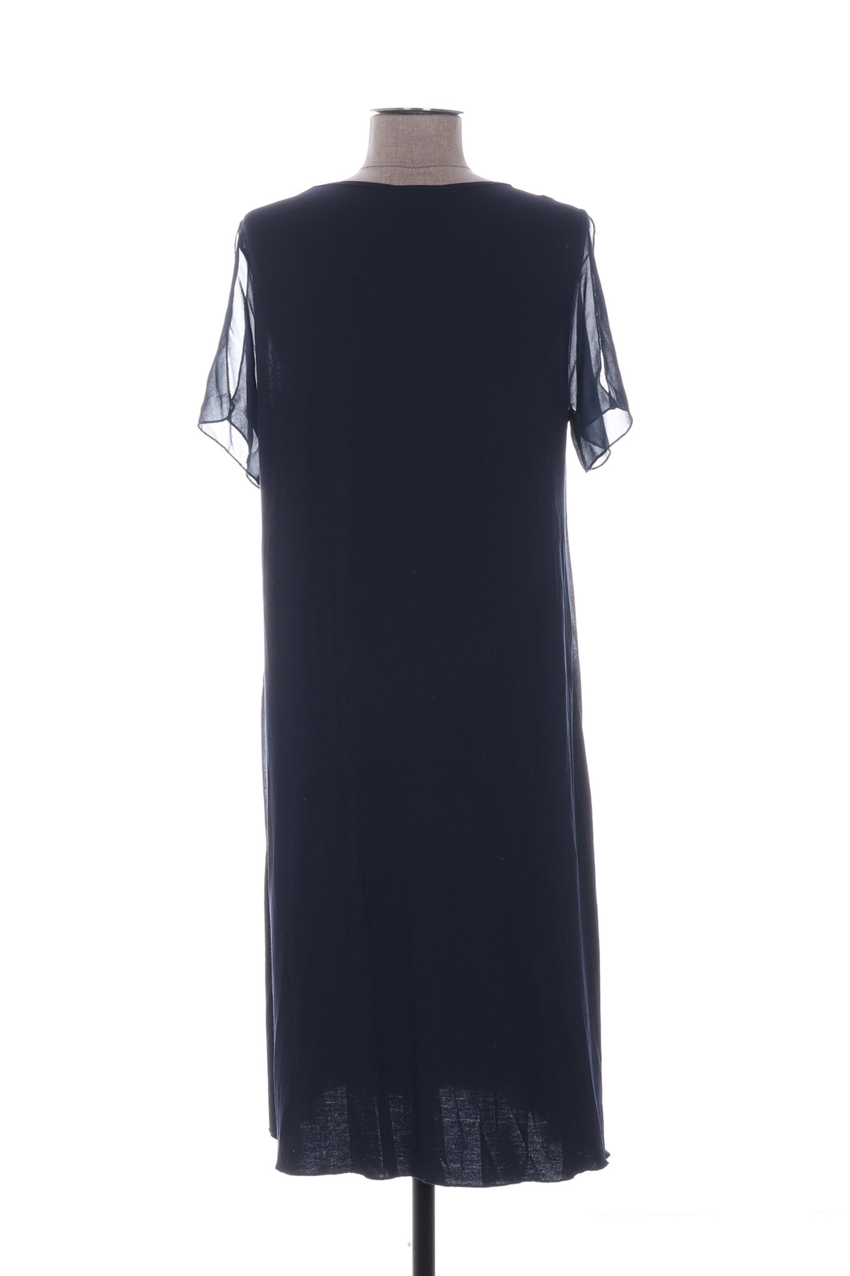 Ninati Robes Mi Longues Femme De Couleur Bleu En Soldes Pas Cher 1262336-bleu00