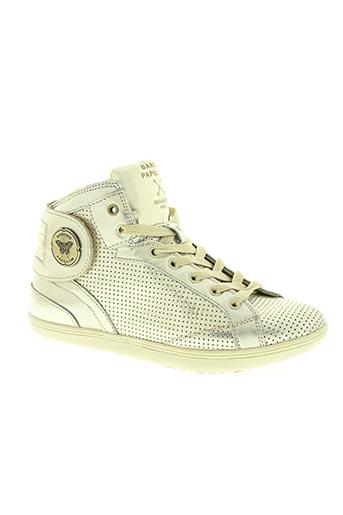 barons papillom chaussures femme de couleur jaune