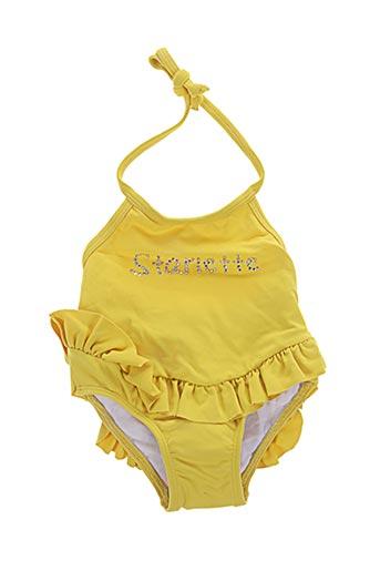 Maillot de bain 1 pièce jaune FRENCHY YUMMY pour fille