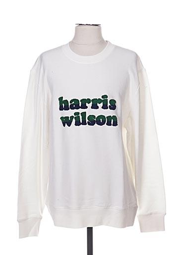 Sweat-shirt blanc HARRIS WILSON pour homme