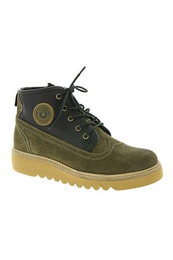 pataugas chaussures femme de couleur vert