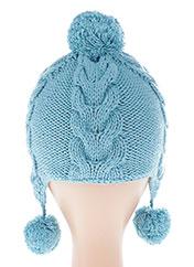 Bonnet bleu LILI GAUFRETTE pour garçon seconde vue
