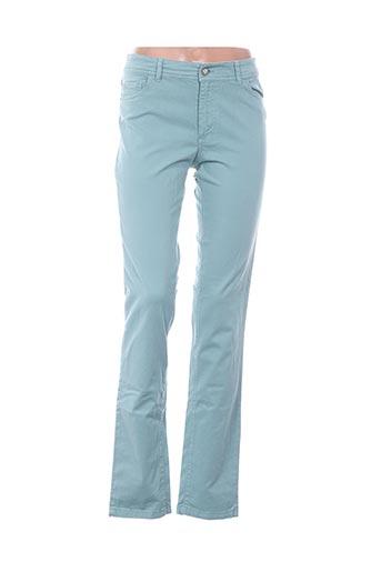 Pantalon casual bleu AXIOME pour femme