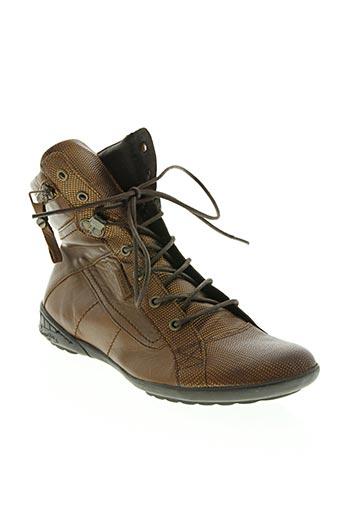 pataugas chaussures femme de couleur marron