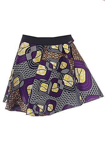 Jupe courte violet APHELIOTE pour fille