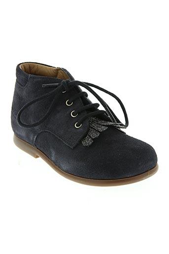 pom d'api chaussures fille de couleur bleu