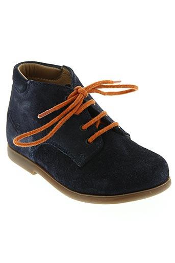 pom d'api chaussures garçon de couleur bleu