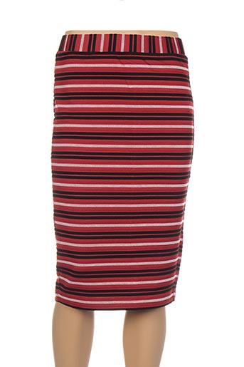 Jupe mi-longue rouge SANDWICH pour femme
