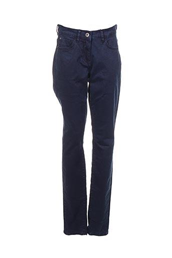 Pantalon casual bleu SANDWICH pour femme