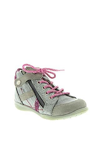 little mary chaussures fille de couleur gris