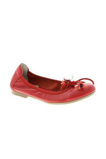 acebos chaussures fille de couleur rouge