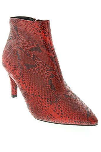 vero moda chaussures femme de couleur rouge