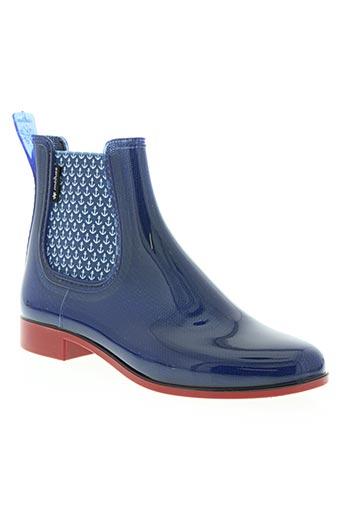 meduse chaussures femme de couleur bleu