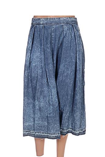 Jupe mi-longue bleu BETWEEN pour femme