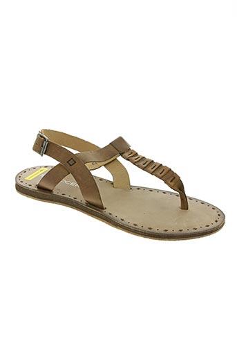 novocento chaussures femme de couleur marron