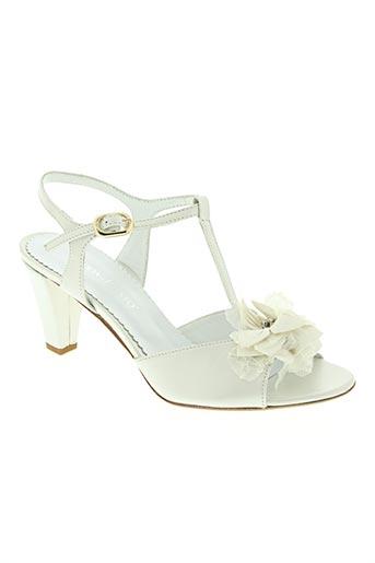 moda di fausto chaussures femme de couleur blanc