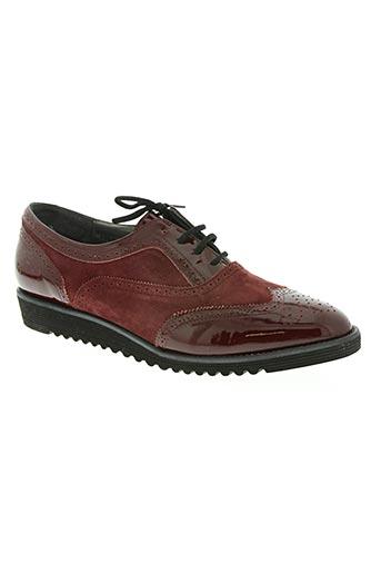 fidji chaussures femme de couleur rouge