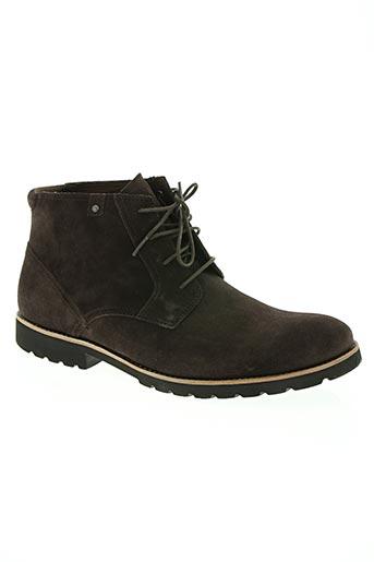 rockport chaussures homme de couleur marron