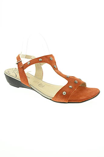 geo-reino chaussures femme de couleur orange