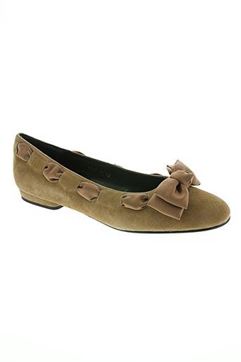 yves de beaumond chaussures femme de couleur marron