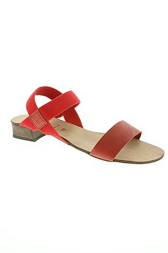 rapisardi chaussures femme de couleur rouge