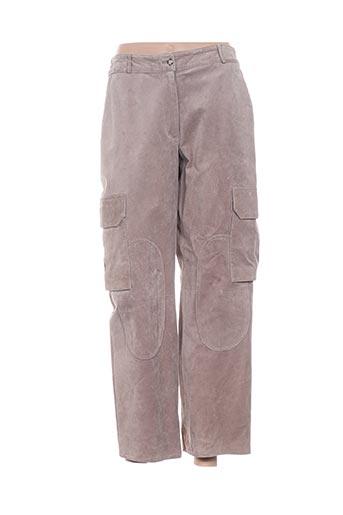 Pantalon 7/8 beige ARMAND VENTILO pour femme