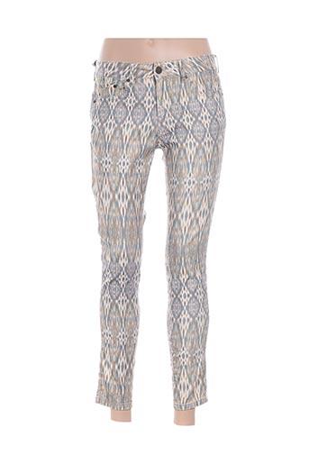 Pantalon 7/8 jaune CORLEONE pour femme