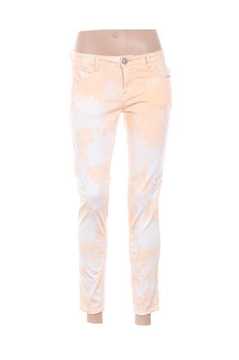 Pantalon 7/8 jaune MKT STUDIO pour femme