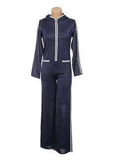 Combi-pantalon bleu JACQUELINE COQ pour femme