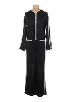 Combi-pantalon noir JACQUELINE COQ pour femme