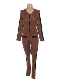 Combi-pantalon marron JACQUELINE COQ pour femme