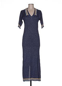 Robe pull bleu JACQUELINE COQ pour femme