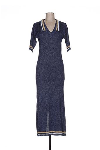 jacqueline coq robes femme de couleur bleu