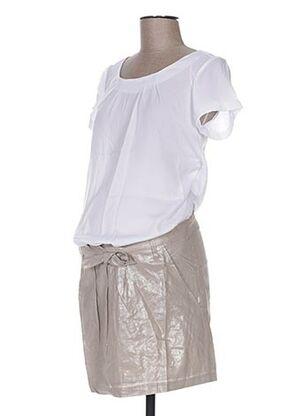 Robe mi-longue beige COLLINE pour femme