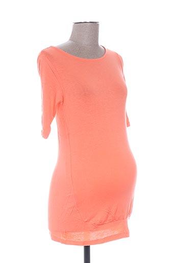 T-shirt manches courtes orange COLLINE pour femme