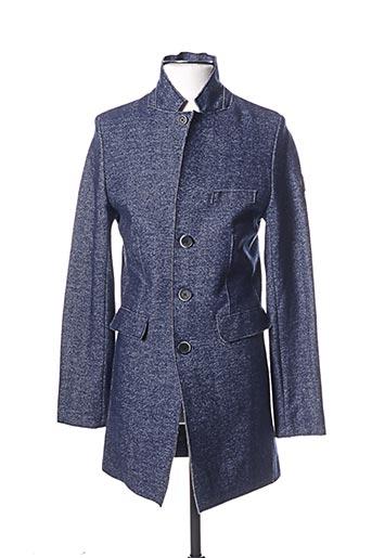 dstrezzed manteaux homme de couleur bleu