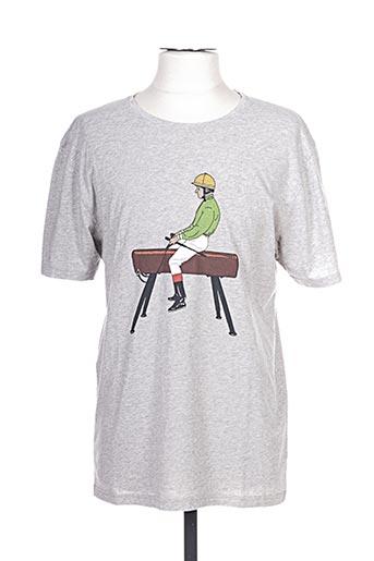 olow t-shirts homme de couleur gris