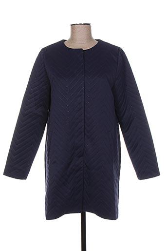 Manteau court bleu MINIMUM pour femme