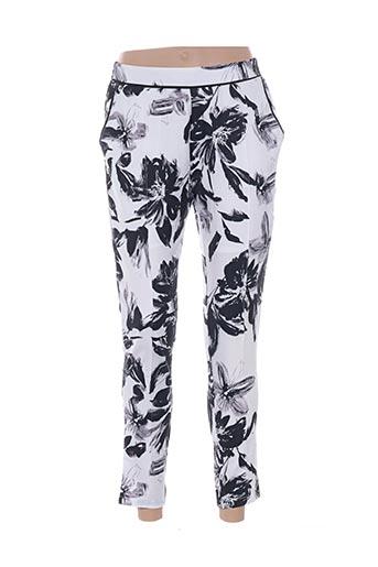 lily white pantalons femme de couleur blanc