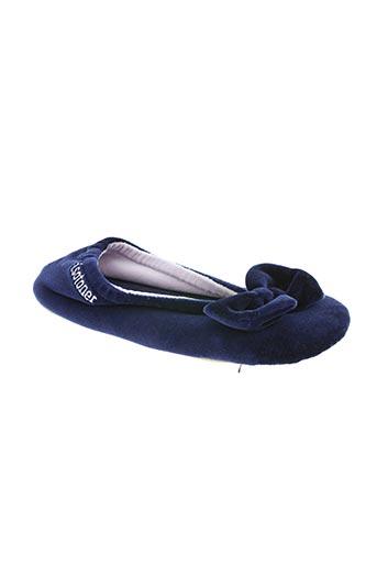 isotoner chaussures femme de couleur bleu