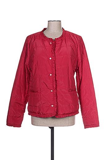 escandelle manteaux femme de couleur rouge