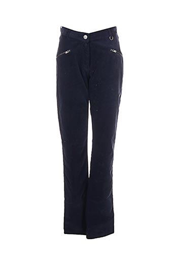 Pantalon casual bleu MADO ET LES AUTRES pour femme